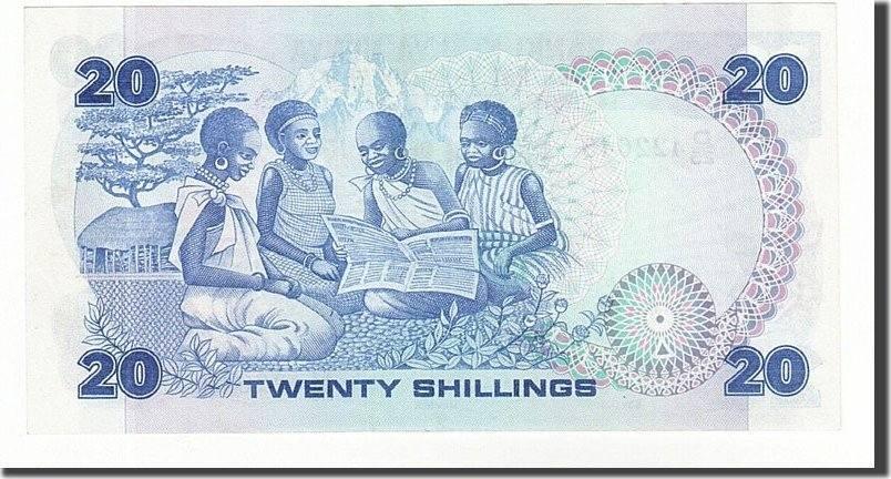 20 Shillings 1981-87 Kenya UNC(63)