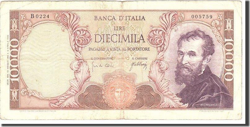 10,000 Lire 1966 Italien KM:97c, 1966-05-16, S S