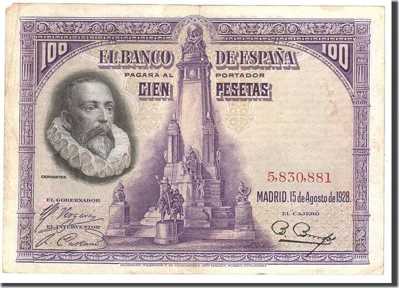 100 Pesetas 1928 Spanien EF(40-45)