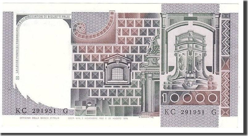 10,000 Lire 1982 Italien EF(40-45)