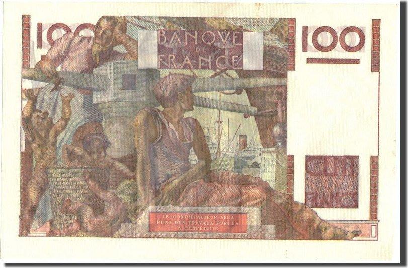 100 Francs 1953 Frankreich 100 F 1945-1954 ''Jeune Paysan'', KM:128d, 1953... UNZ