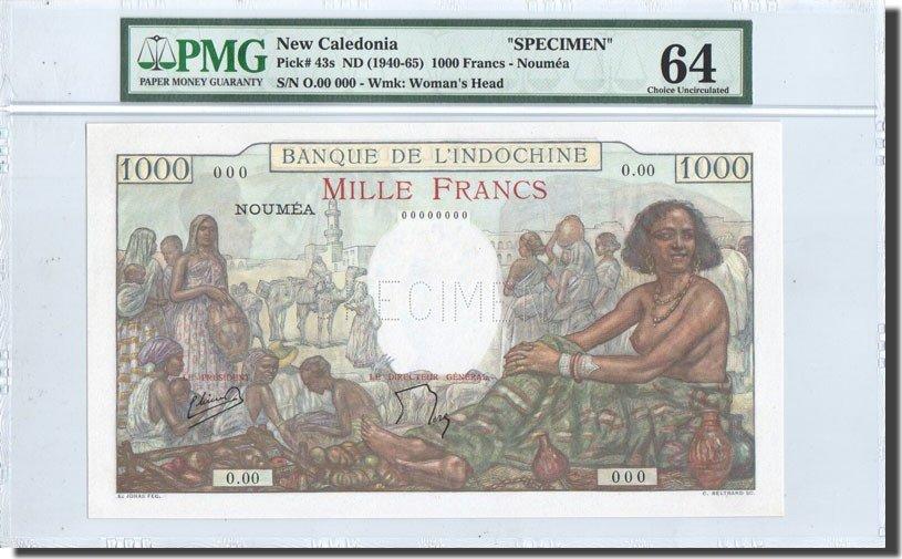 1000 Francs 1938 Neukaledonien UNC(64)