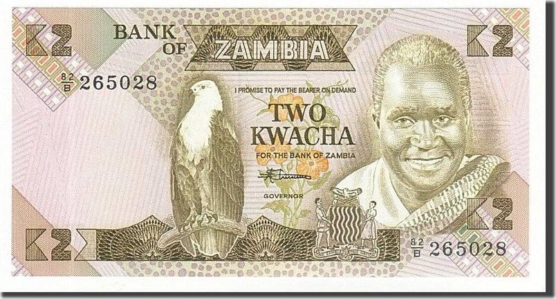 2 Kwacha 1980-1988 Sambia UNC(65-70)