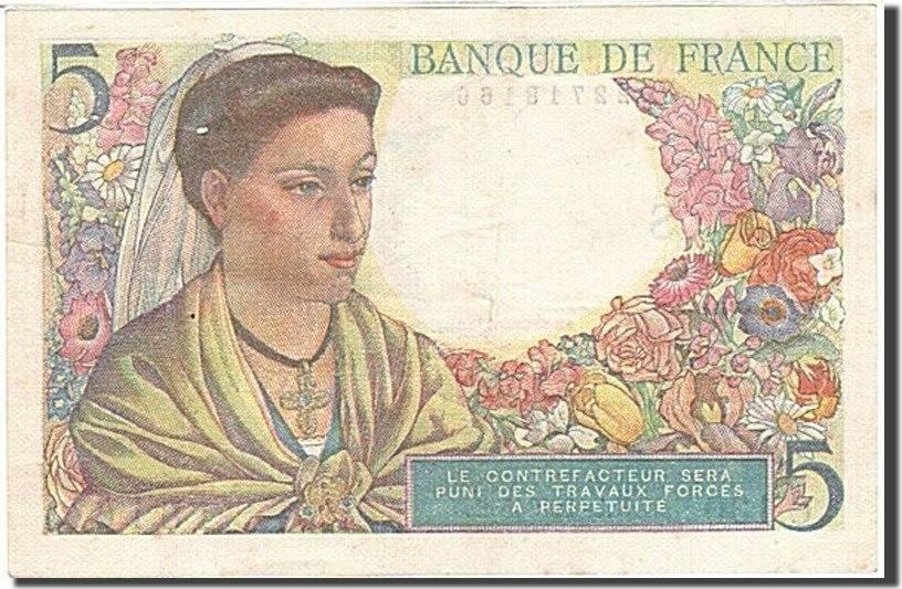 5 Francs 1943 Frankreich UNC(60-62)