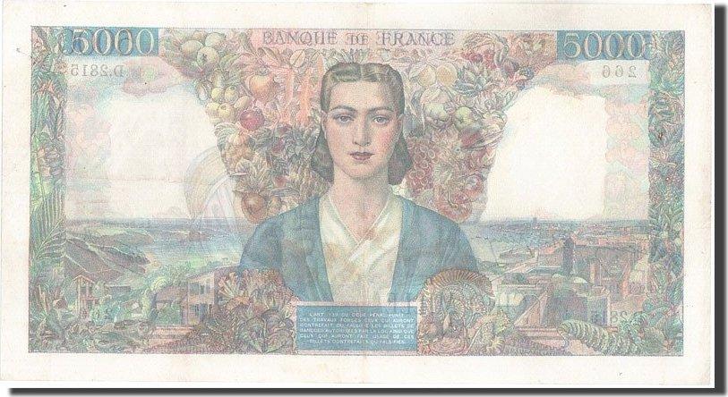 5000 Francs 1947 Frankreich 5 000 F 1942-1947 ''Empire Français'', KM:103... VZ
