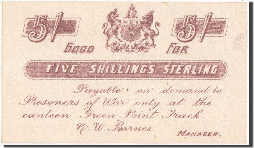 5 Shillings 1899-1902 Südafrika Zweiter Burenkrieg, 5 Shillings Sterling, UNZ UNZ