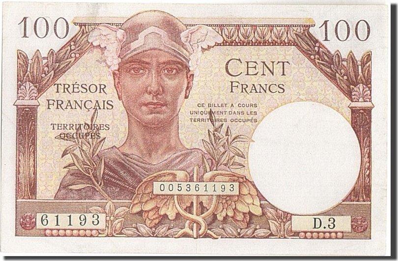 100 Francs Undated (1947) Frankreich 1947 French Treasury, KM:M9, 1947, VZ... VZ