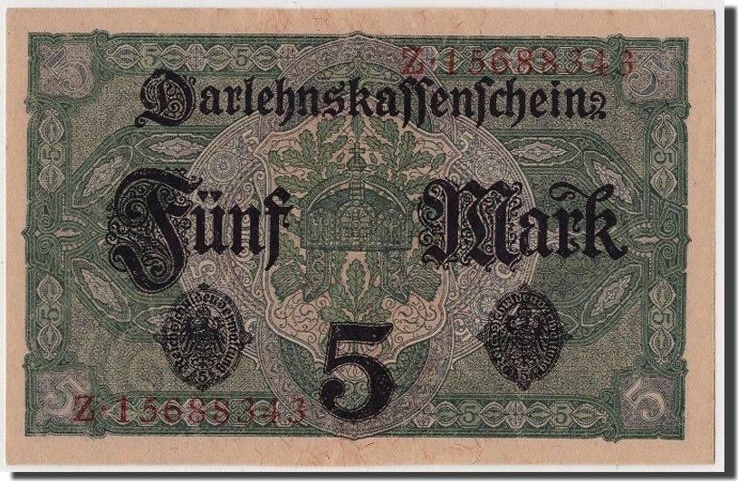 5 Mark 1917 Deutschland UNC(65-70)