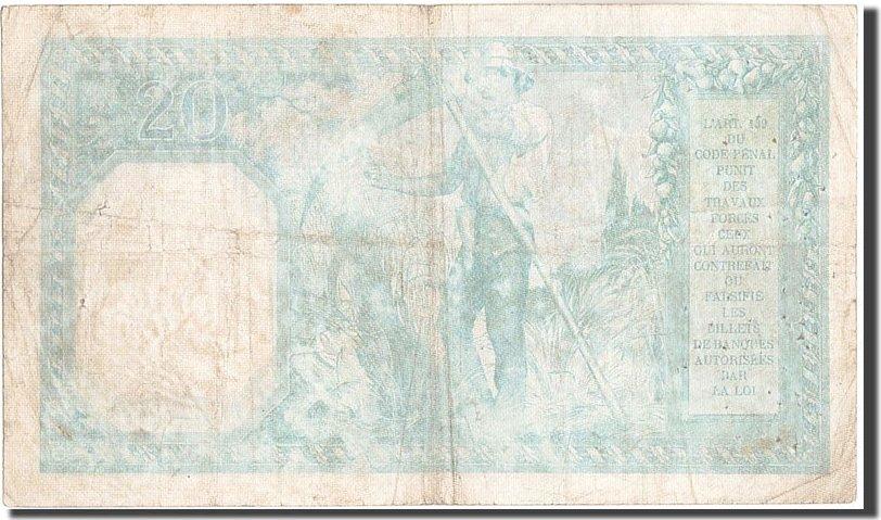 20 Francs 1917 Frankreich 20 F 1916-1919 ''Bayard'', KM:74, 1917-08-24, SS... SS