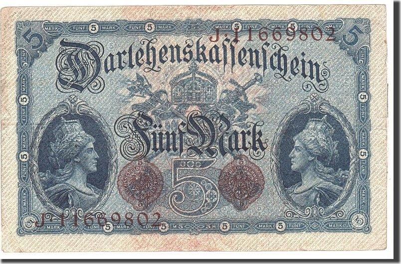 5 Mark 1914 Deutschland KM:47c, 1914-08-05, SS SS