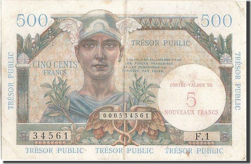 5 Nouveaux Francs on 500 Francs 1960 Frankreich EF(40-45)