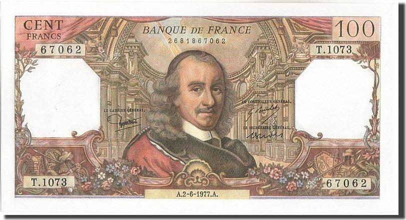 100 Francs 1977 Frankreich 100 F 1964-1979 ''Corneille'', KM:149f, 1977-06... UNZ-