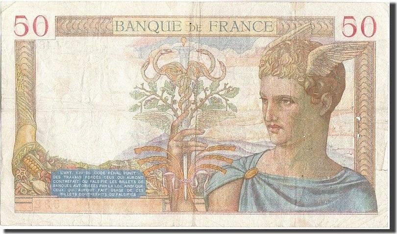 50 Francs 1935 Frankreich VF(20-25)