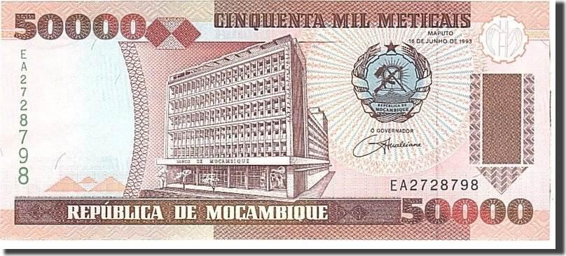 50,000 Meticais 1993 Mosambik 1993-06-16, KM:138, UNZ UNZ
