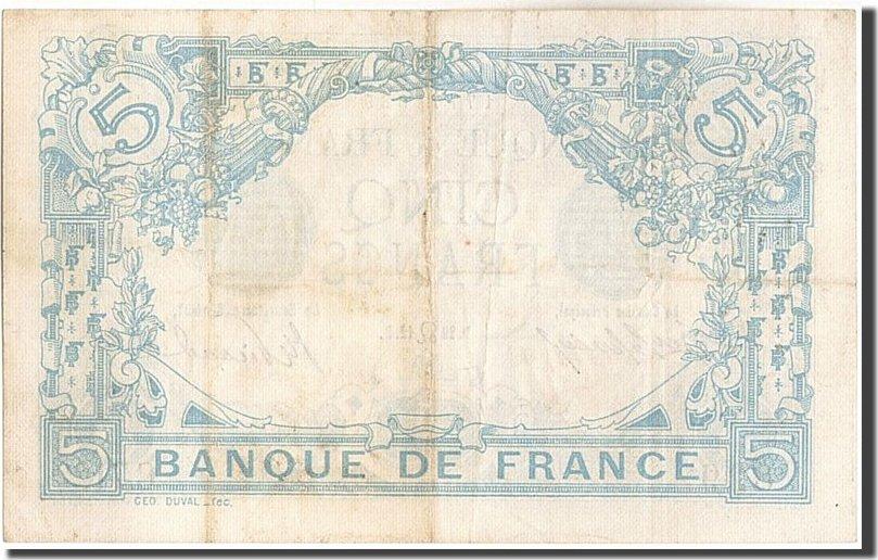 5 Francs 1912 Frankreich AU(50-53)