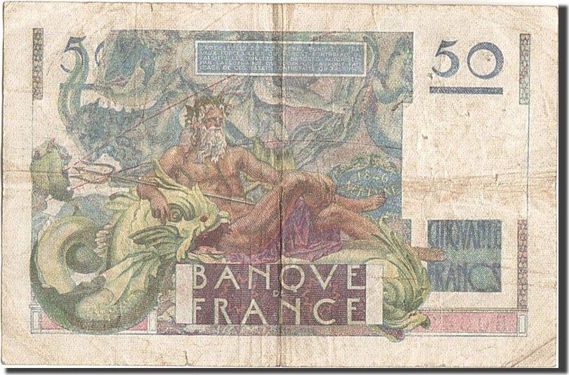 50 Francs 1951 Frankreich VF(30-35)