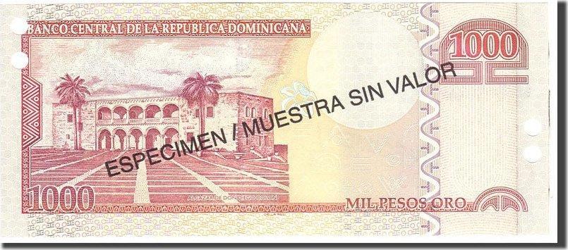 1000 Pesos Oro 2002 Dominican Republic KM:173s1, Undated, UNZ UNZ