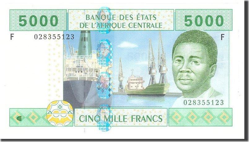 5000 Francs 2002 Zentralafrikanische Staaten UNC(65-70)