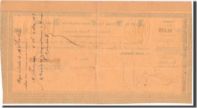 100 Francs 1862 Mexiko Traite, 14.9.1862, Kolsky 7 SS+