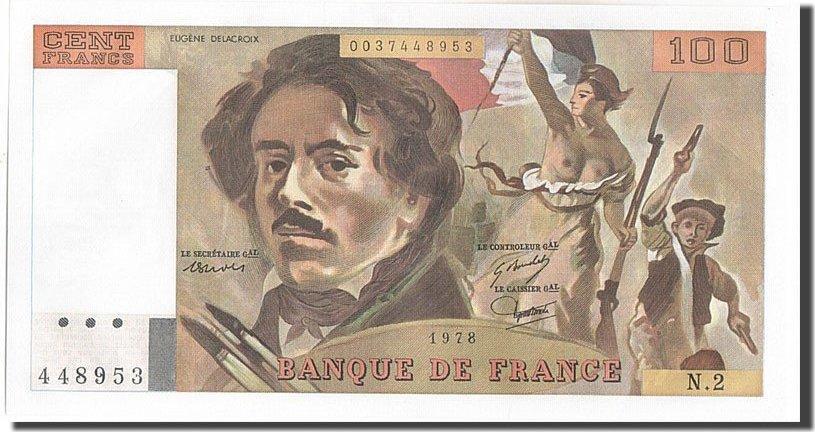 100 Francs 1978 Frankreich UNC(63)