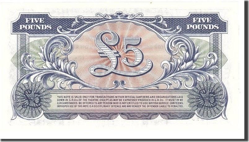 5 Pounds 1958 Großbritannien UNC(65-70)