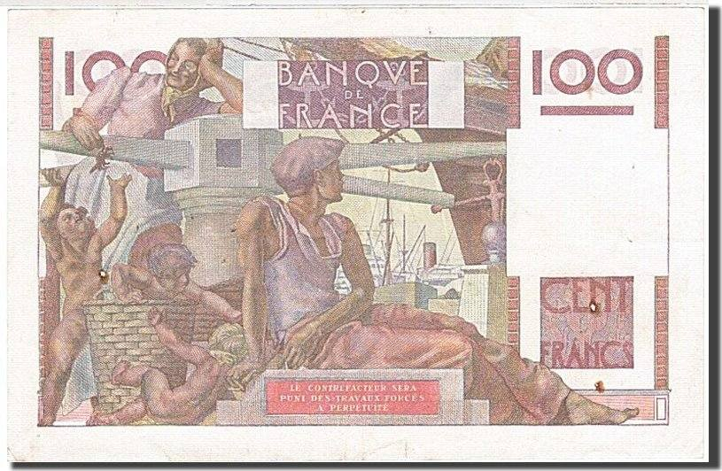 100 Francs 1945 Frankreich AU(55-58)