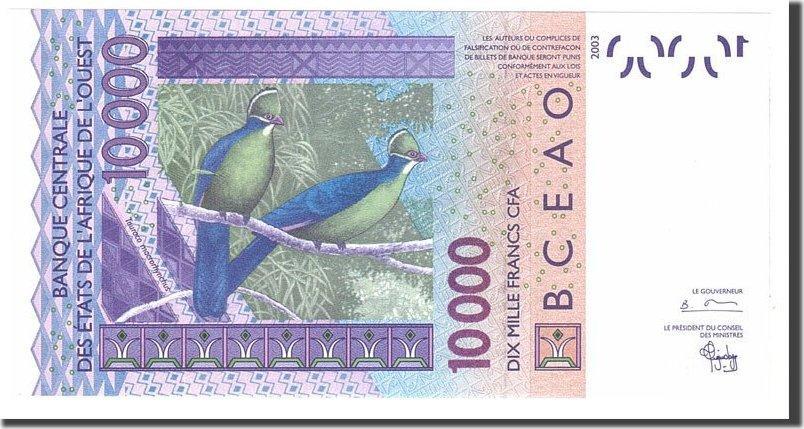 10,000 Francs 2003 West African States UNC(65-70)