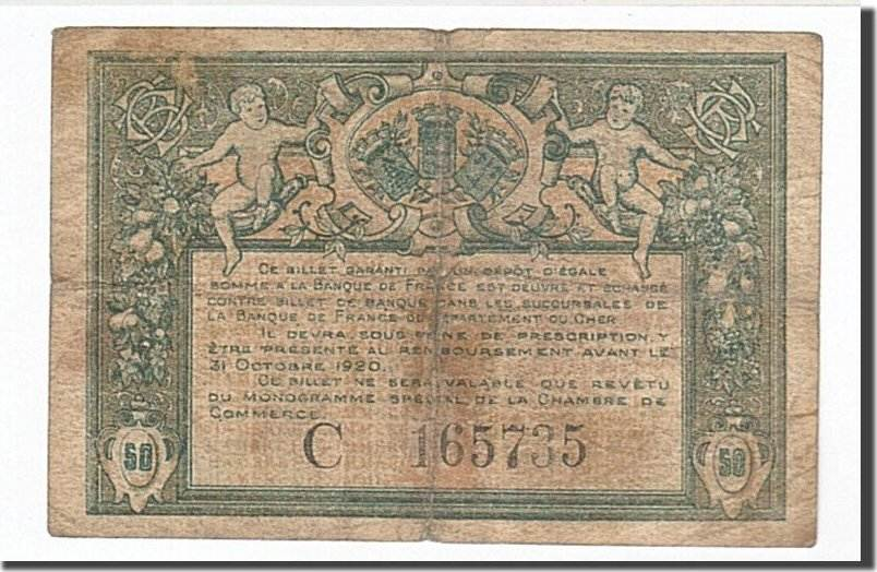 50 Centimes 1915 Frankreich Bourges, S, Pirot:32-5 S