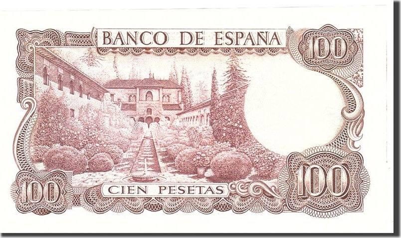 100 Pesetas 1970 Spanien AU(55-58)