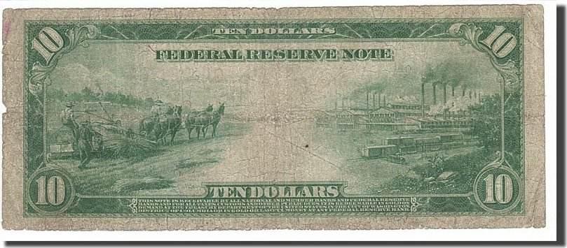 Ten Dollars 1913 Vereinigte Staaten VF(20-25)