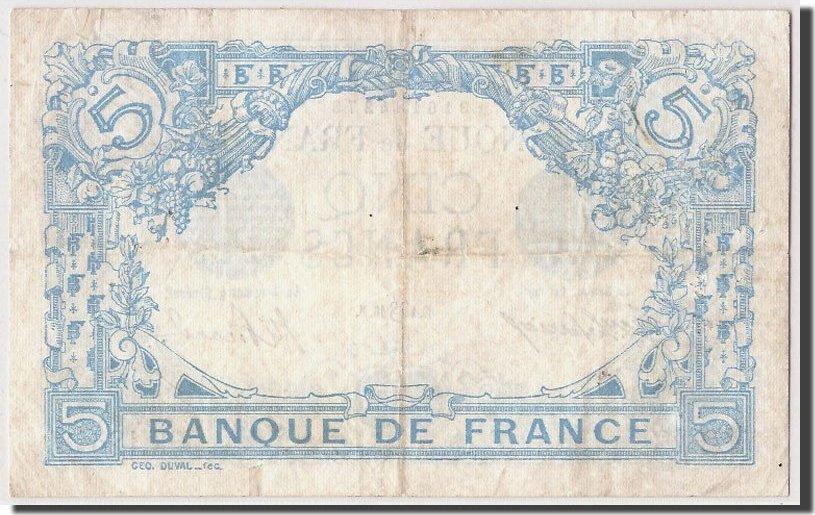 5 Francs 1916 Frankreich EF(40-45)