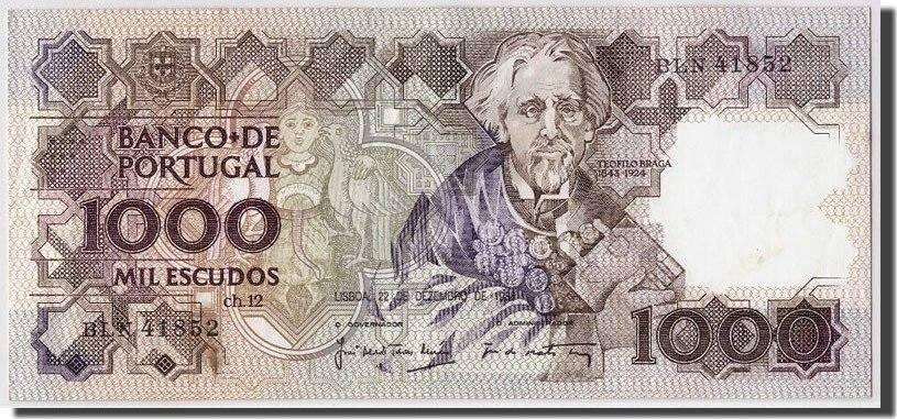 1000 Escudos 1988 Portugal 1988-12-22, KM:181e, SS+ SS+