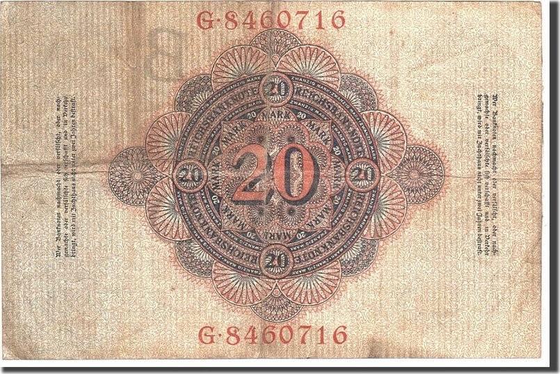 20 Mark 1910 Deutschland KM:40b, 1910-04-21, S S