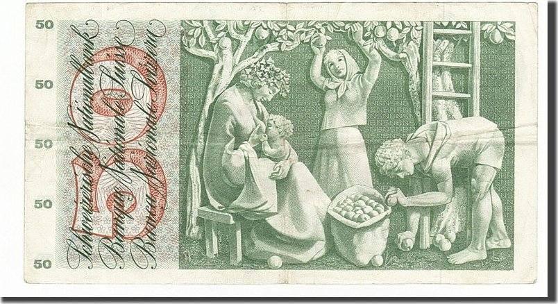 50 Franken 1965 Schweiz EF(40-45)