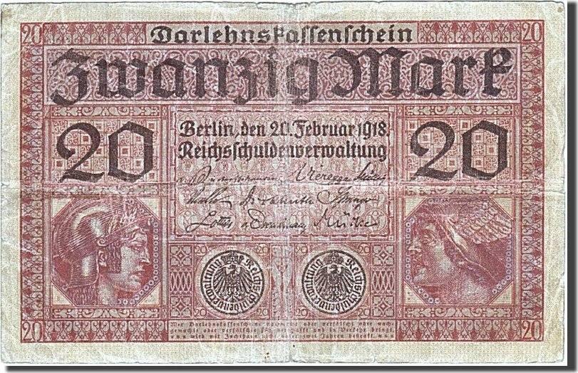 20 Mark 1917-1918 Deutschland F(12-15)