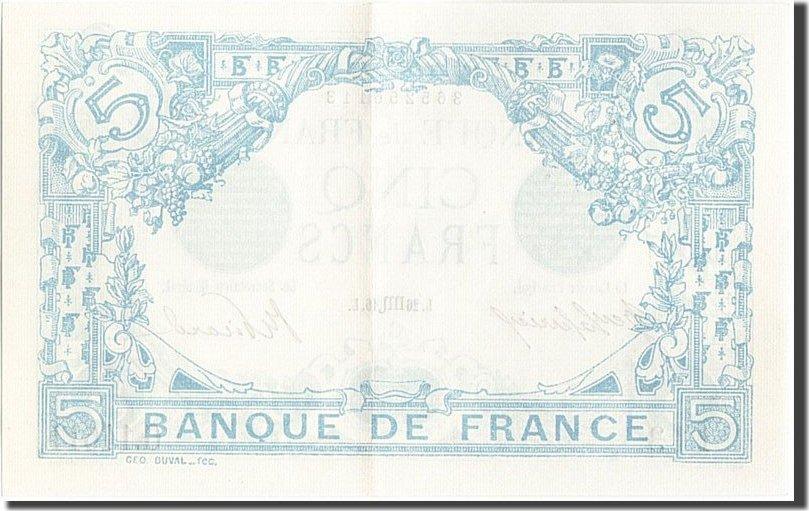 5 Francs 1916 Frankreich UNC(60-62)