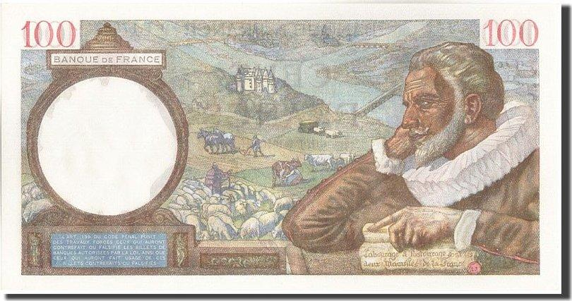 100 Francs 1941 Frankreich 100 F 1939-1942 ''Sully'', KM:94, 1941-01-09, U... UNZ