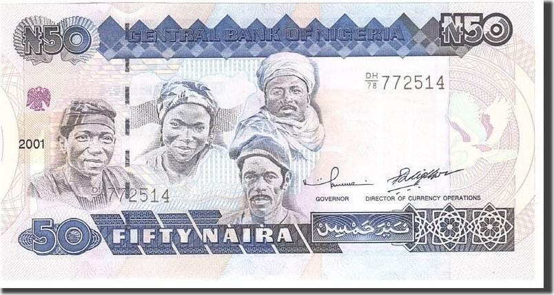 50 Naira 2001 Nigeria UNC(65-70)