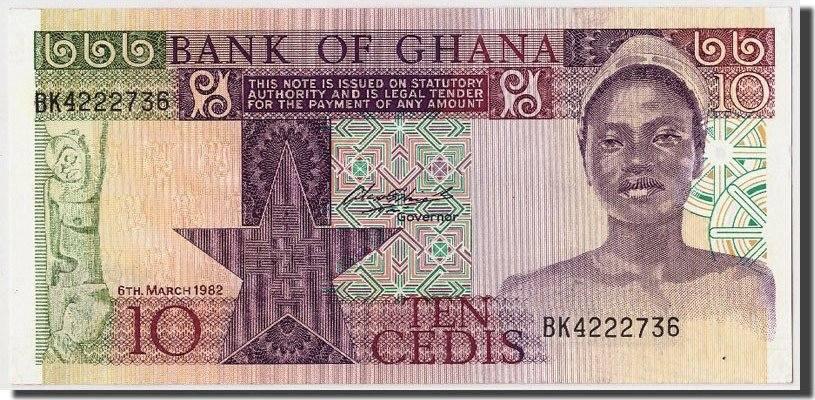 10 Cedis 1982 Ghana UNC(65-70)