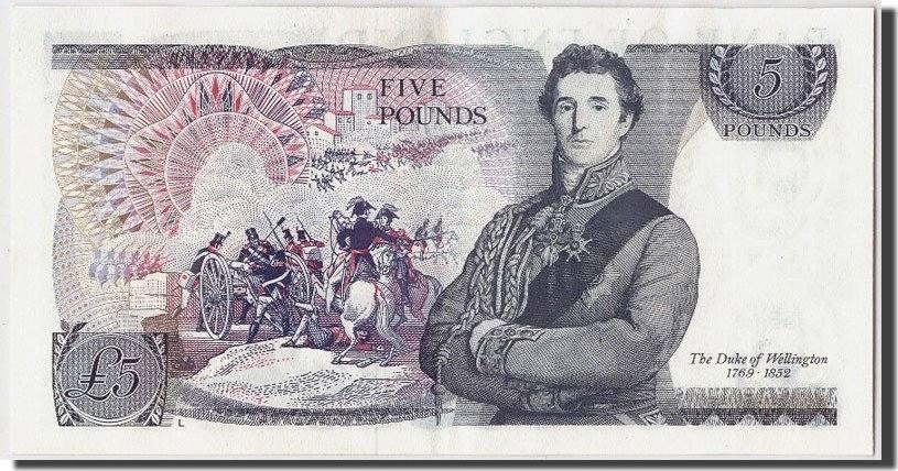 5 Pounds Undated (1971-91) Großbritannien KM:378b, VZ+ VZ+
