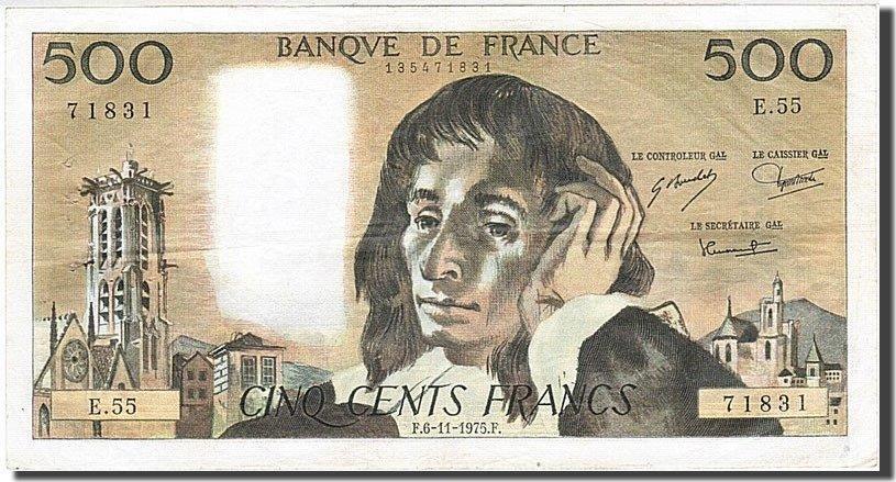 500 Francs 1968 Frankreich AU(50-53)