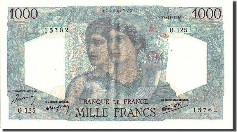 20 Francs 1945 Frankreich 1 000 F 1945-1950 ''Minerve et Hercule'', KM:74,... VZ+