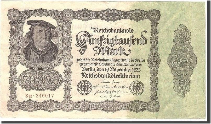 50,000 Mark 1922 Deutschland EF(40-45)