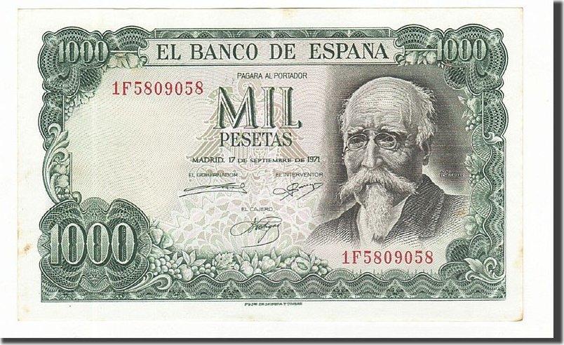 1000 Pesetas 1971 Spanien AU(55-58)