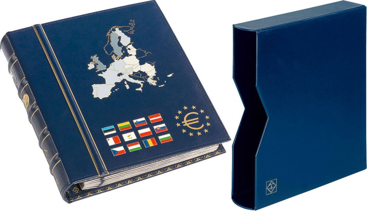 Album, with 6 pages, Blue, with slipcase, Leuchtturm:341041