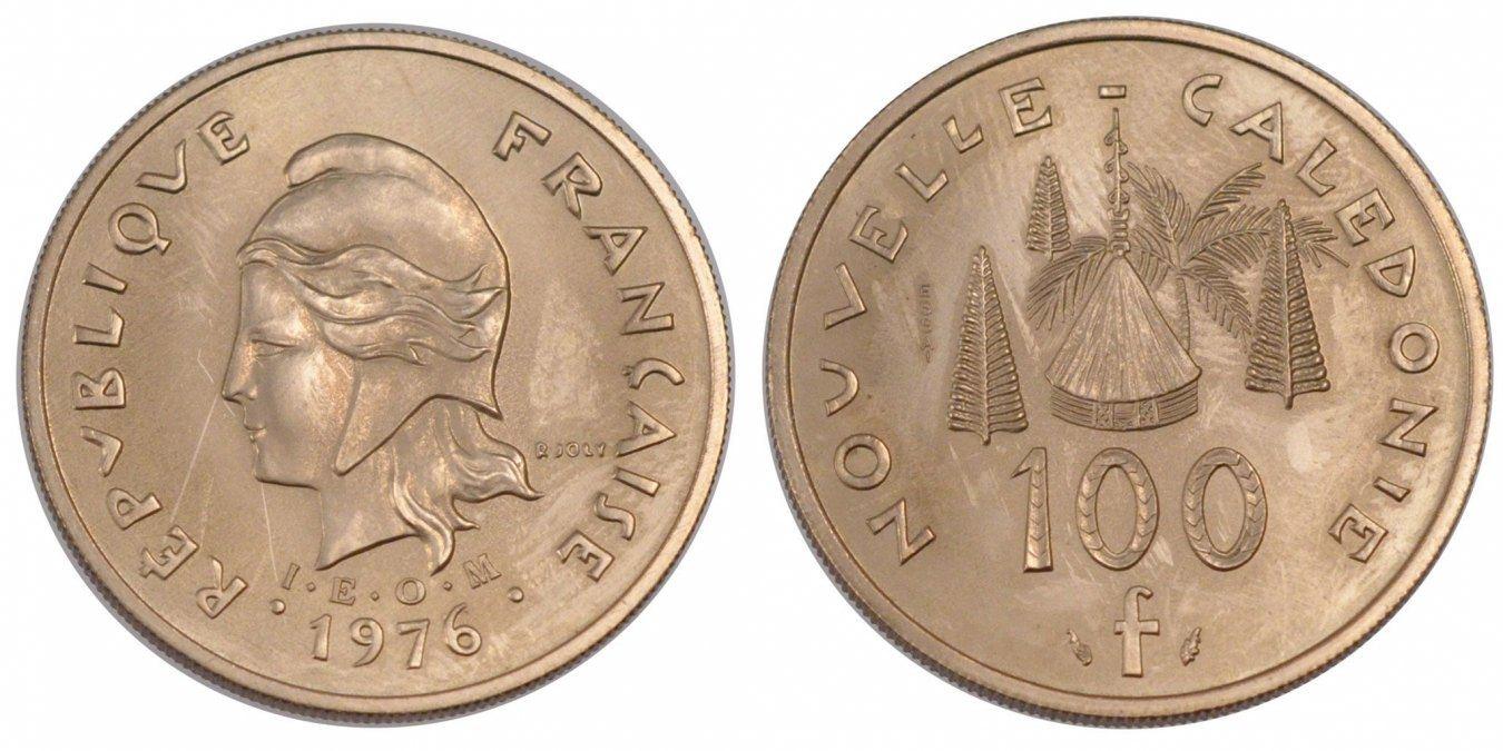 100 Francs 1976 (a) Neukaledonien MS(65-70)