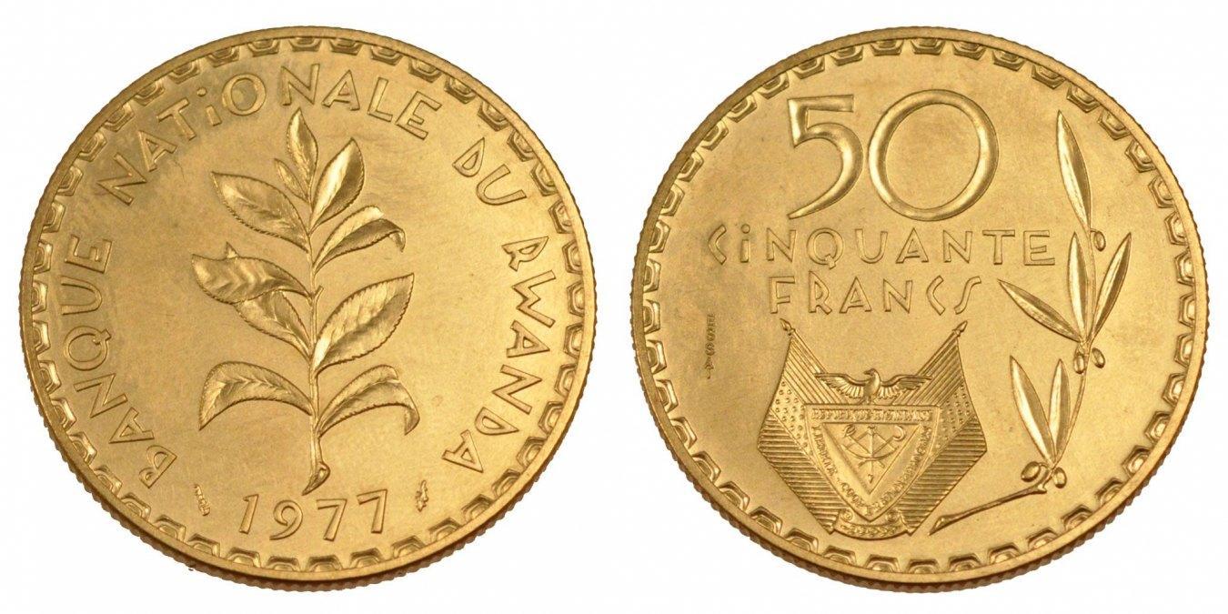 50 Francs 1977 (a) Ruanda MS(65-70)