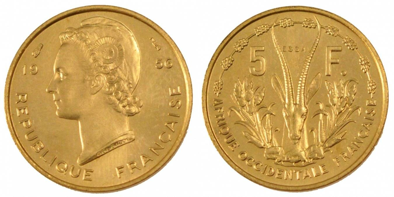 5 Francs 1956 (a) French West Africa MS(65-70)