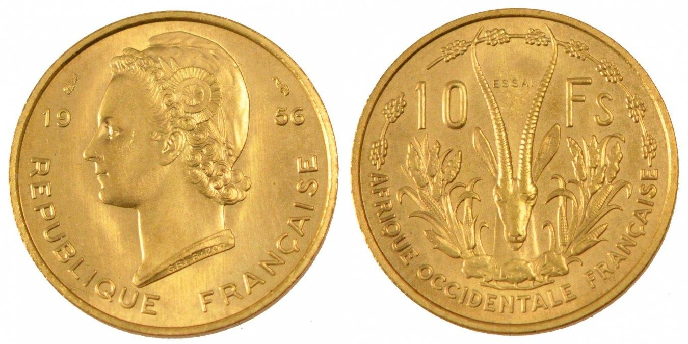 10 Francs 1956 (a) French West Africa MS(65-70)