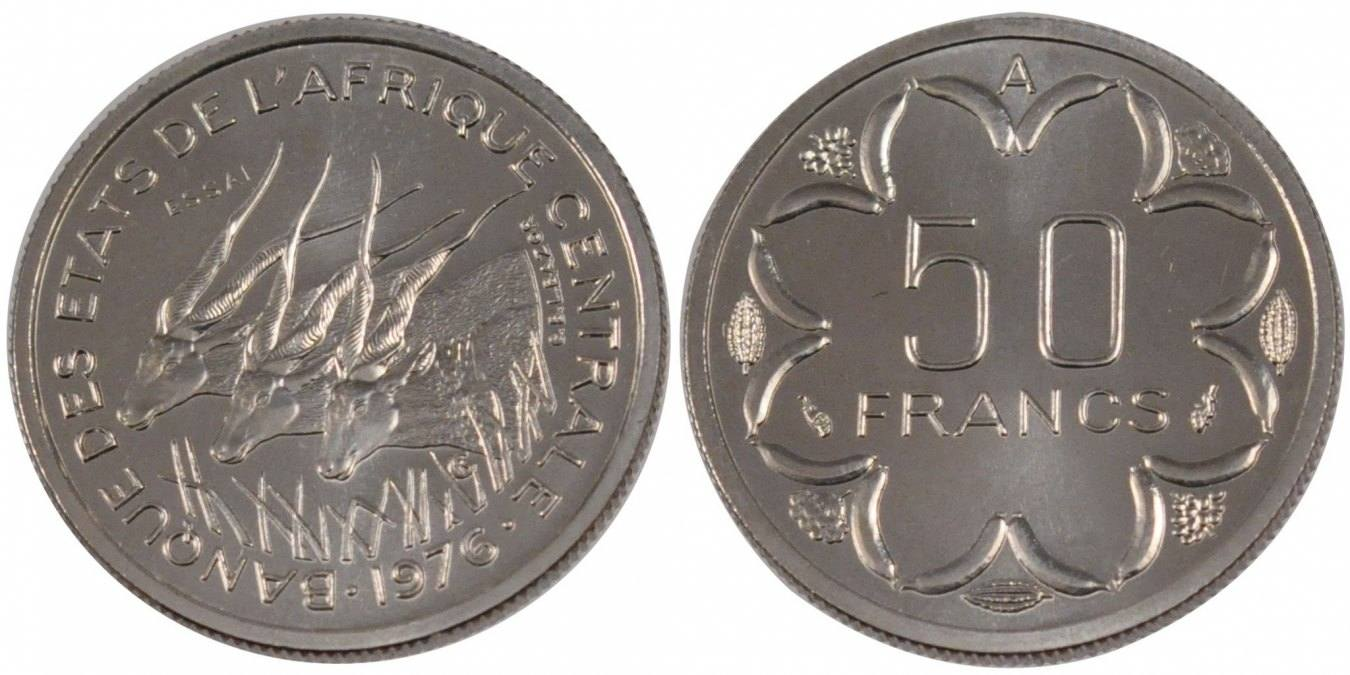 Franc 1976 (a) West African States MS(65-70)